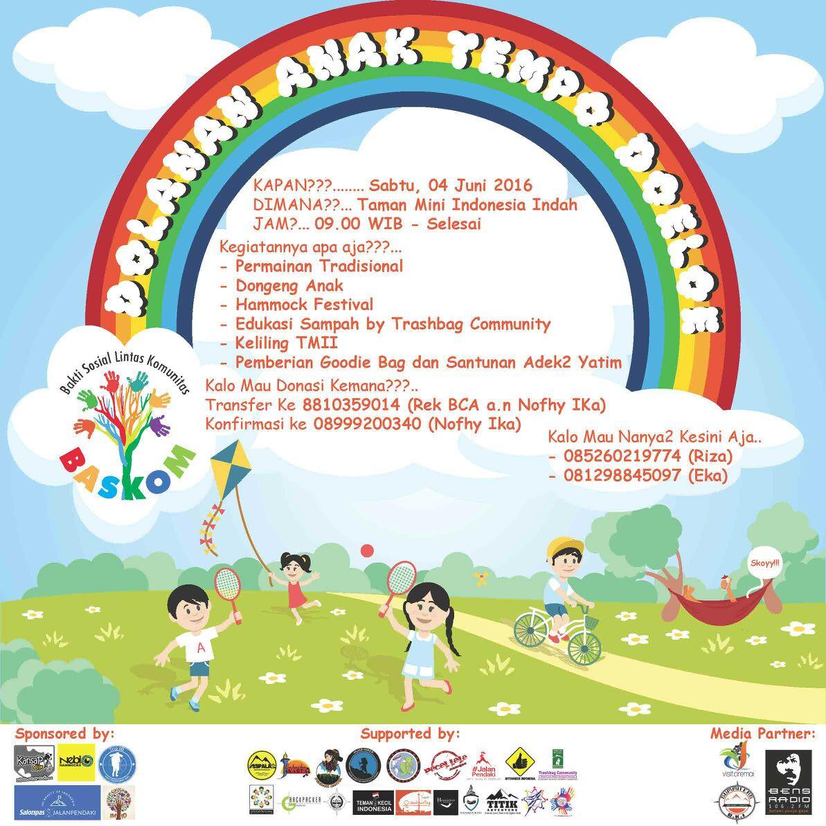dolanan anak tempo dulu yang akan diterapkan bersama anak yatim yang akan di selenggarakan pada tgl 4 Juni 2016 di Taman Mini Indonesia indah
