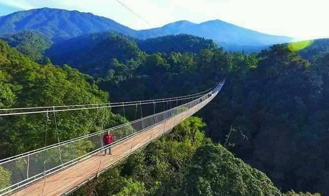 gambar 2 - suspension bridge jembatan gantung sukabumi situ gunung sukabumi